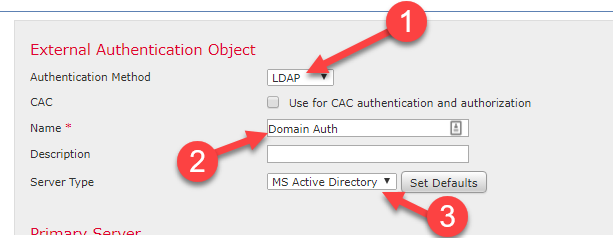 Firepower Management Center Active Directory Authenticated - Techstat